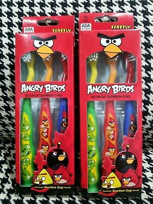 Firefly Kid's Suction Cup Toothbrush Angry Birds (6ct)