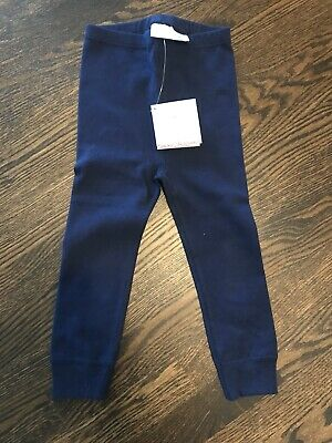 Hanna Andersson Navy Ribbed Leggings 90
