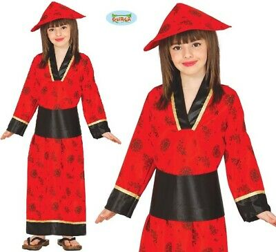 Childs Girls Chinese Fancy Dress Costume Kids China Girl Oriental Lady Outfit fg