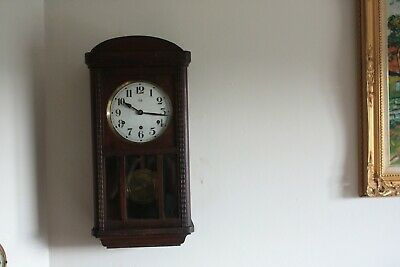 vintage  french-Wall Clock VEDETTE..westminster chimes 8 hammers  G.W.O