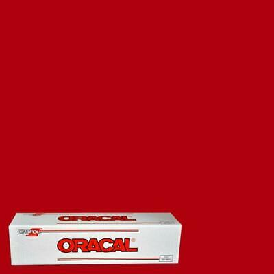 """Oracal 651 RED 031 Hobby Craft Sign Auto Boat Vinyl Self Adhesive 12"""" x 10 Ft."""