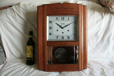 vintage  french-Wall Clock VEDETTA..westminster chimes ...........  G.W.O