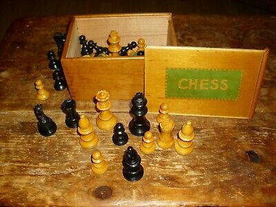 Staunton Chess Set Jaques London, Vintage, Schachfiguren, Schach Set