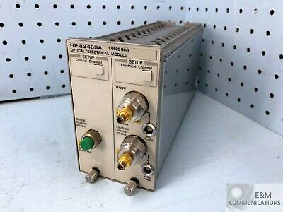 83485A Hp Agilent 20 Ghz Optical Plug In Module With Options 012 H63 H99