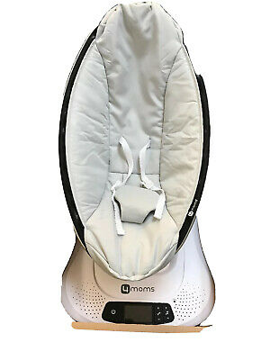 4moms MamaRoo 4 infant seat / swing – Silver Plush used  TOY HOLDER NOT INCLUDED