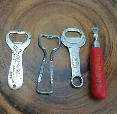 Lot of 4 Vintage Bottle Openers Iroquois Duquesne Stegmaier Beer KTM Motorcycle