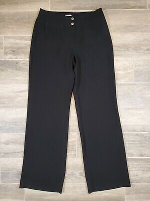 Chicos Womens Black Dress Pants - Size 1 - Inseam 31