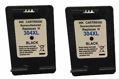 2 Cartucho de Tinta Negro hp 304XL Compatible para hp DJ3720