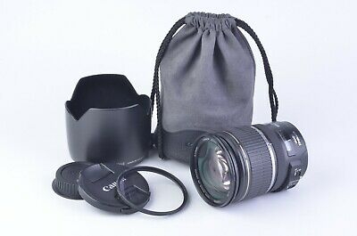 EXC+++ CANON EFS 17-55mm F2.8 IS USM ZOOM LENS, CAPS, HOOD, UV, POUCH, SHARP!