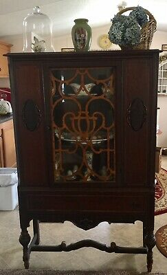 Antique American French Revival China Cabinet-Needs Restoration-Local Pickup