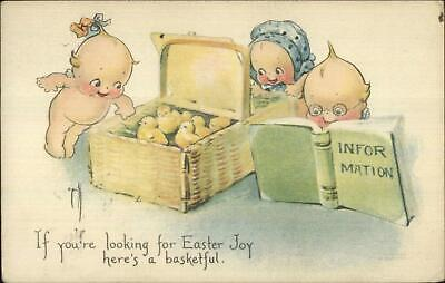 Easter - Rose O'Neill Kewpies & Chicks c1920 Postcard