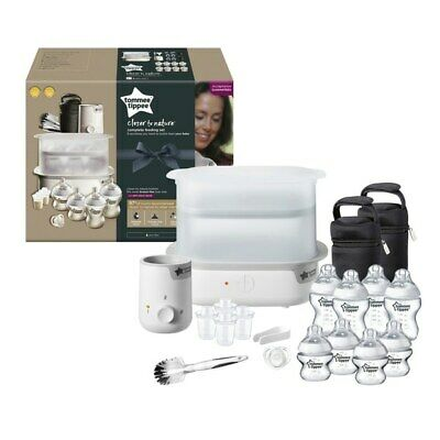 NEW QUALITY Tommee Tippee Complete Feeding Set Baby Electric Steriliser Bottles