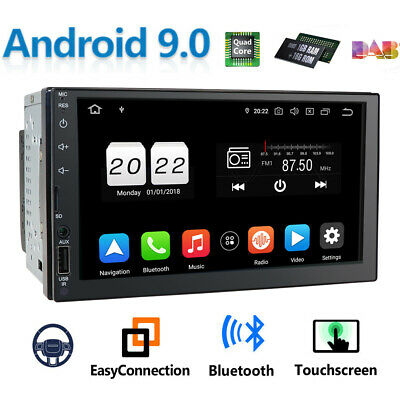 """Android 9.1 Car Stereo GPS Navigation Radio Player Double Din WIFI 7"""""""