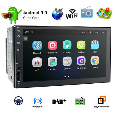 Android 9.1 Double 2 DIN Car Stereo Player 7'' 1GB RAM FM Radio MP5 GPS Wifi OBD