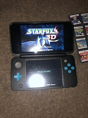 Nintendo 2DS XL Handheld System - Black & Turquoise w/21 Ds 3 3Ds Games