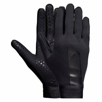 Nike Junior Boys Warm Winter Hyperwarm Training Football Gloves Triple Black