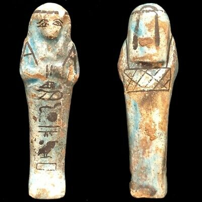 Very Rare Ancient Egyptian Hieroglyphic Shabti, Late Period (1)