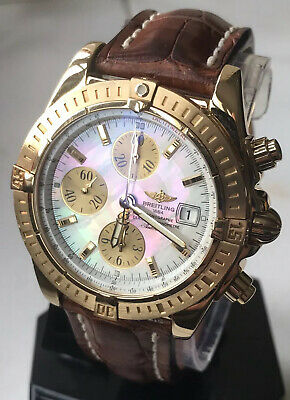 Breitling Chronomat Evolution Solid 18k Gold Boxed With COSC Certificate