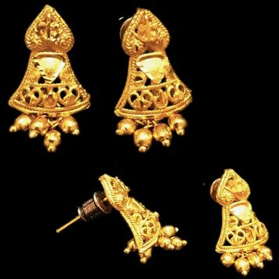 Very Rare Gandhara Gold Earrings
