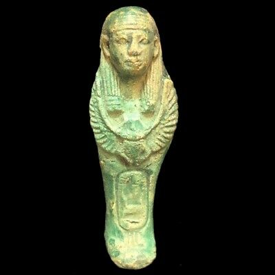 Very Rare Ancient Egyptian Hieroglyphic Shabti, Late Period (2)