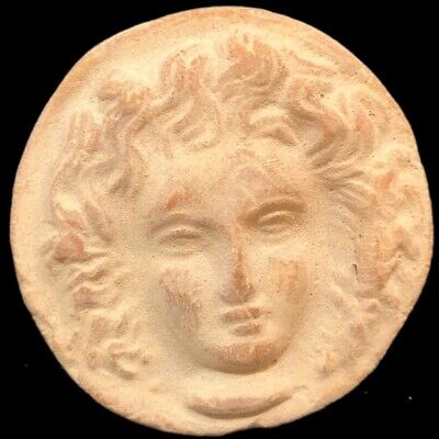Large Ancient Sasanian Clay Seal With Face (2)