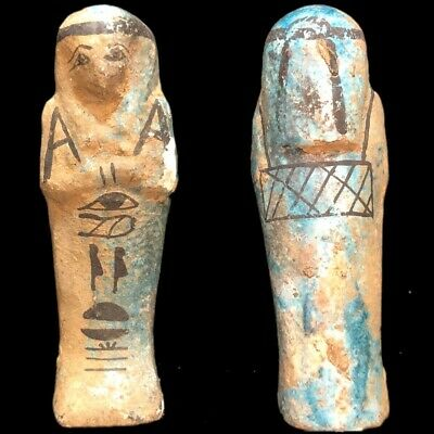 Very Rare Ancient Egyptian Hieroglyphic Shabti, Late Period (3)