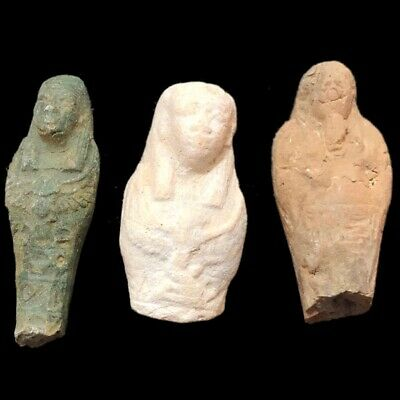 Very Rare Ancient Egyptian Hieroglyphic Shabti Fragment Group, Late Period (2)