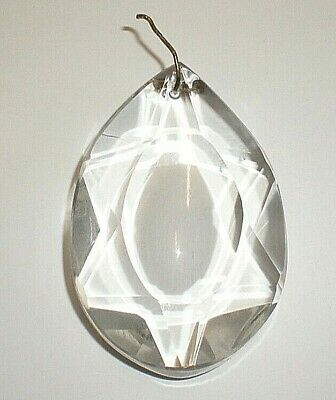 Large Antique Crystal Pendent For Replacement / Wedding / Light Catcher (GR)
