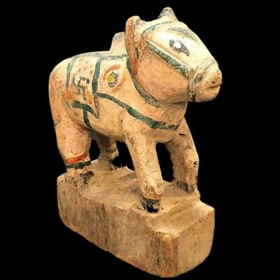 Very Rare Ancient Egyptian Wooden Animal Statuette (1)