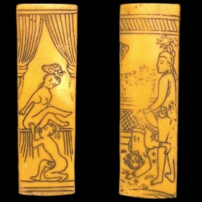 Rare Ancient Near Eastern Double Sided Erotic Panel Artefact (5)