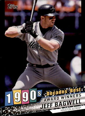 2020 Topps Series 1 JEFF BAGWELL Decades' Best BLACK /299 Astros #DB-68