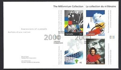 Canada   # 1821 a-d     CANADIAN TALENT    New 2000 Unaddressed