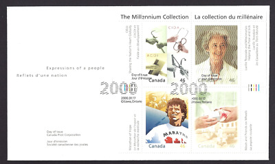 Canada   # 1824 a-d  Hearts of Gold   New 2000 Unaddressed