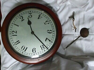 Antique rear wind gallery fusee wall clock