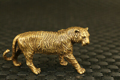 chinese old bronze hand casting tiger statue figure collectable