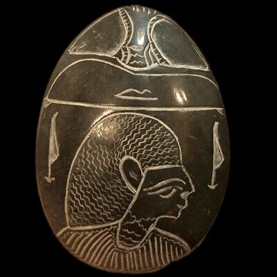 Rare Ancient Egyptian Huge Heavy Stone Scarab Beetle 300 B.c.