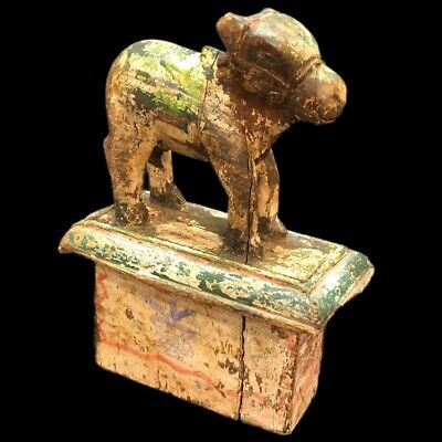 Very Rare Ancient Egyptian Wooden Animal Statuette (3)
