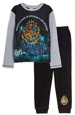 Harry Potter Full Length Pyjamas Kids Hogwarts Boys Girls Long Pjs Set Nightwear