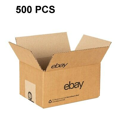 "eBay-Branded Boxes With Black Color Logo 8"" x 6"" x 4"" 500 BOXES"