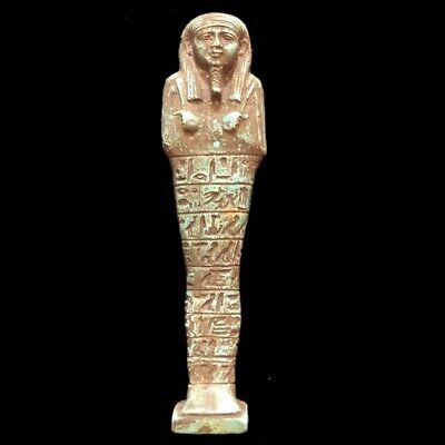 Very Rare Ancient Egyptian Hieroglyphic Shabti, Late Period (9)