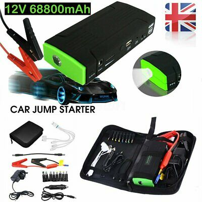 SALES!! 68800mAh Car Jump Starter 12V Pack Booster Charger Battery Vehicle Power