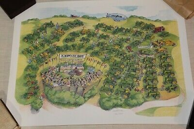 John Deere 1992 Expo Poster Signed Numbered 246 of 2000 MINT Condition Two Cylin