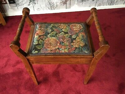 Vintage Tapestry piano stool