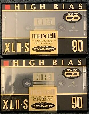 2 Maxell Xlii S 90 Cassette Tapes High Bias New Sealed