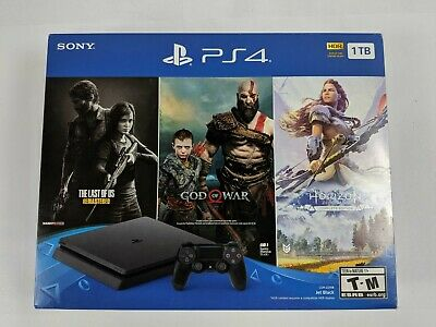 Open Box Sony PlayStation 4 PS4 Slim 1TB CUH-2215B Jet Black - DS2132 TPR