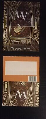 🐬 £10 Waterstones Gift Card Voucher ~ On Presentation Card To Write A Message