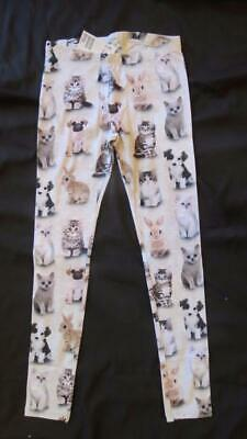 NWT H&M Sz 9 10 Bunny Rabbit Puppy Dog Pug Kitten Cat Leggings