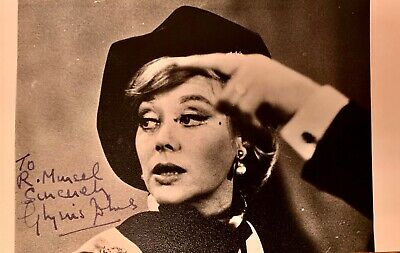 GLYNIS JOHNS  -  FILM ACTRESS  MARY POPINS etc  GENUINE AUTOGRAPHED PHOTO CARD