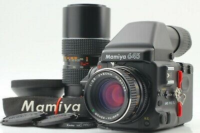 【ALMOST MINT】 Mamiya 645 Pro TL Sekor C 80mm f/2.8 + Zoom Lens from JAPAN 369