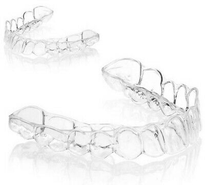 Invisalign-Type Essix Dental Retainers – Upper and Lower Set with Storage Case